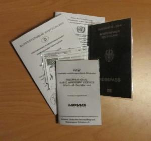 Reisedokumente für eine Weltreise