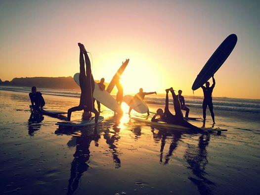 Sunset Surf Art