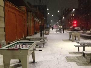 Kickern-im-Schnee